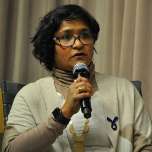 Photo shows image of the AMHP Executive Director Ghada Khan